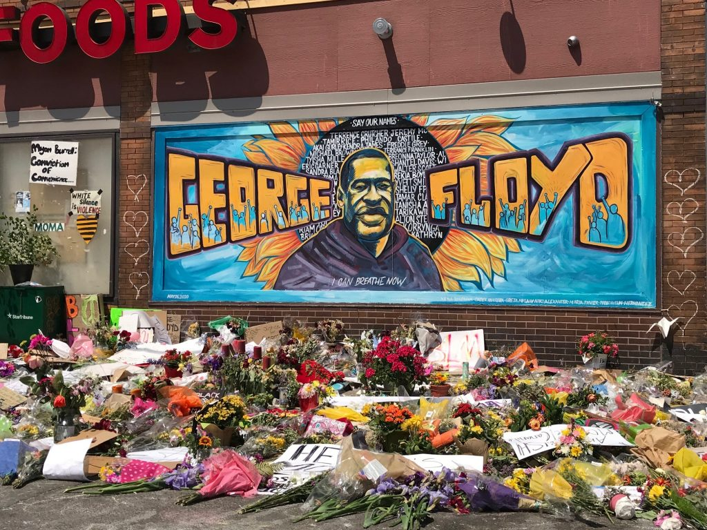 George Floyd Memorial at 38th and Chicago in Minneapolis.