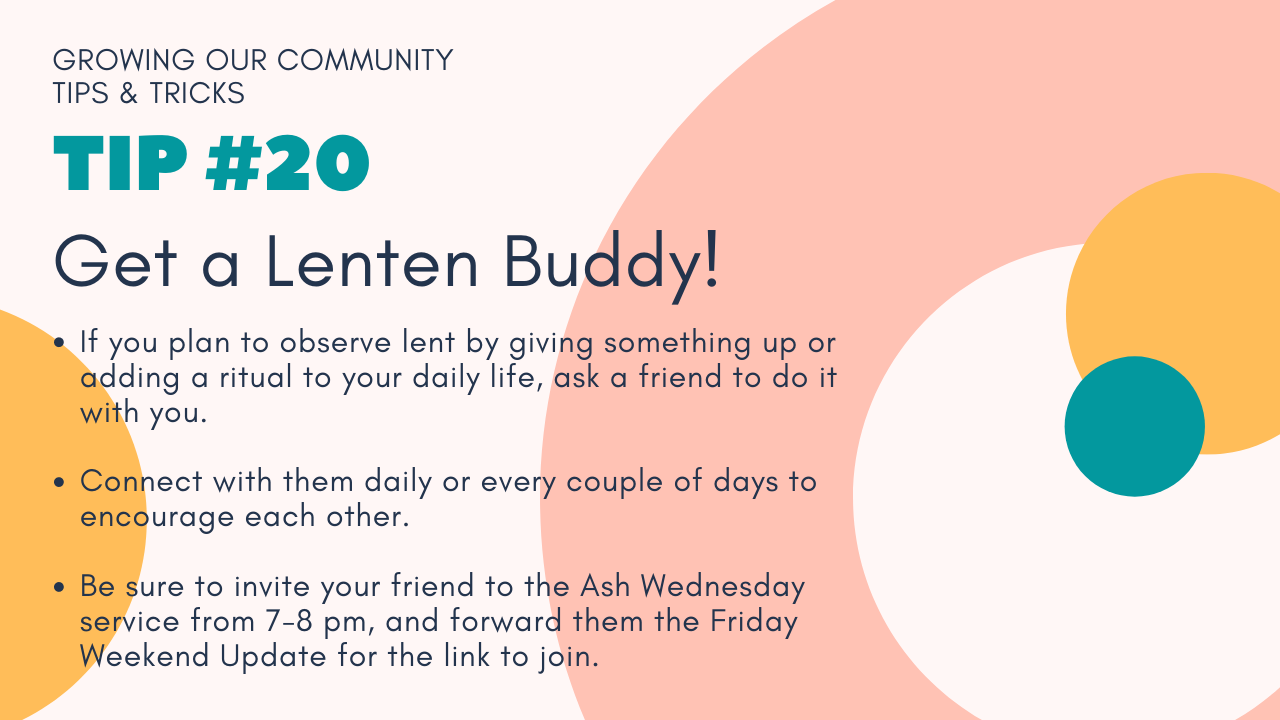 Growing Our Community Tip #20